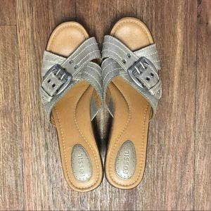Fossil wedge sandal